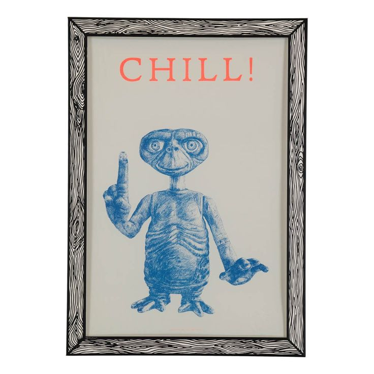 THE+prints+by+Marke+Newton+Poster+Chill!+29,7x42+Cm+Blau