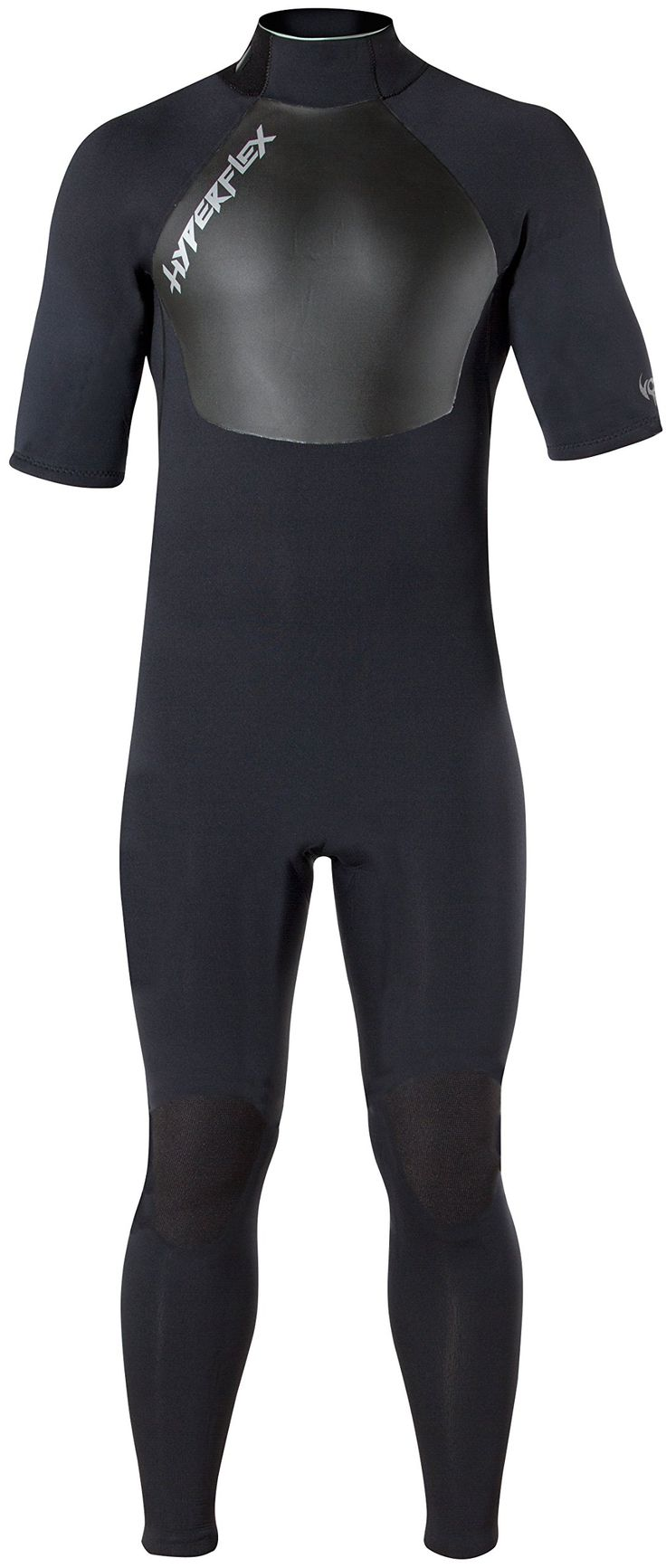 Hyperflex Wetsuits Men's Voodoo 2.5mm Short Sleeve Fullsuit, Black, Large S - Surfing, Windsurfing & Wakeboarding