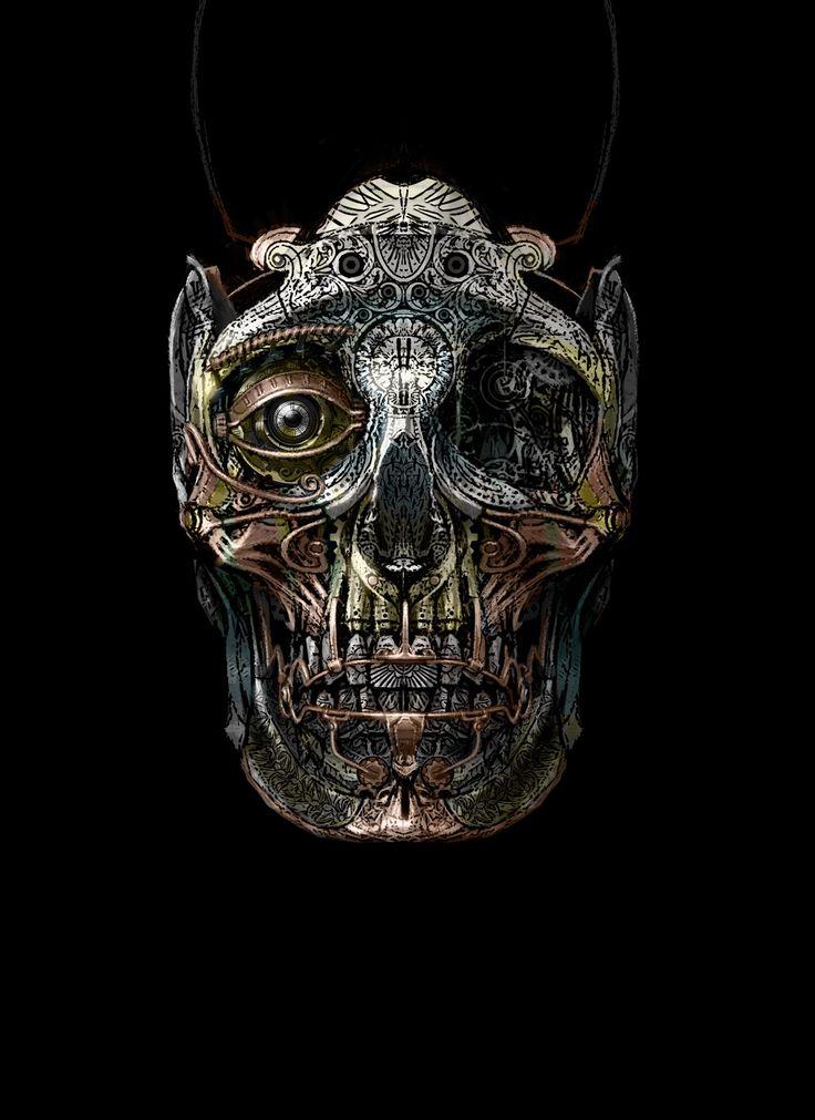 steampunk art images   Mowrer Art Steampunk Frankenstein and more: Steampunk Skull