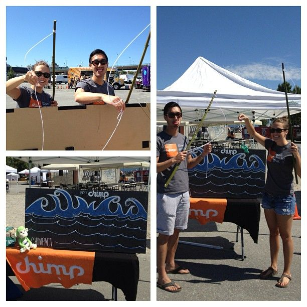 Come play The Hungry Games for #charity with the #chimpact squad. #foodcartfest #vancouver