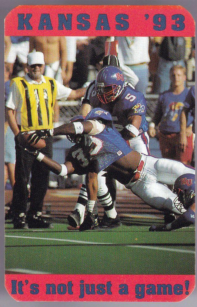 1993 KANSAS JAYHAWKS KU BOOKSTORES FOOTBALL POCKET SCHEDULE FREE SHIPPING #SCHEDULE