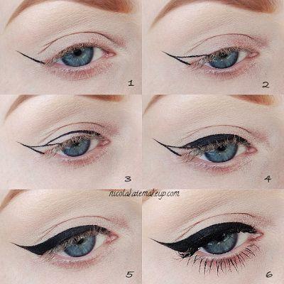 Nicola Kate Makeup: Winged Eyeliner Pictorial | Beauty Stuff | Pinterest | Makeup, Beauty makeup and Eyeliner
