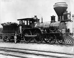 The train on the built rail road