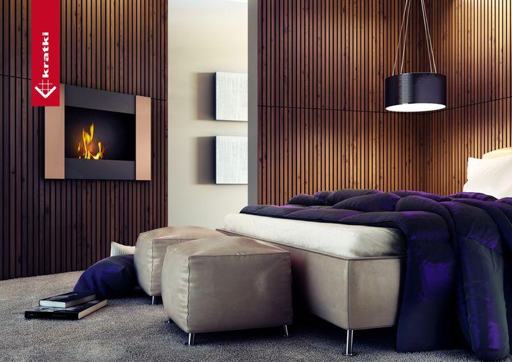 Biofireplace Bravo 2 #kratki #biofireplace #bedroom #interior