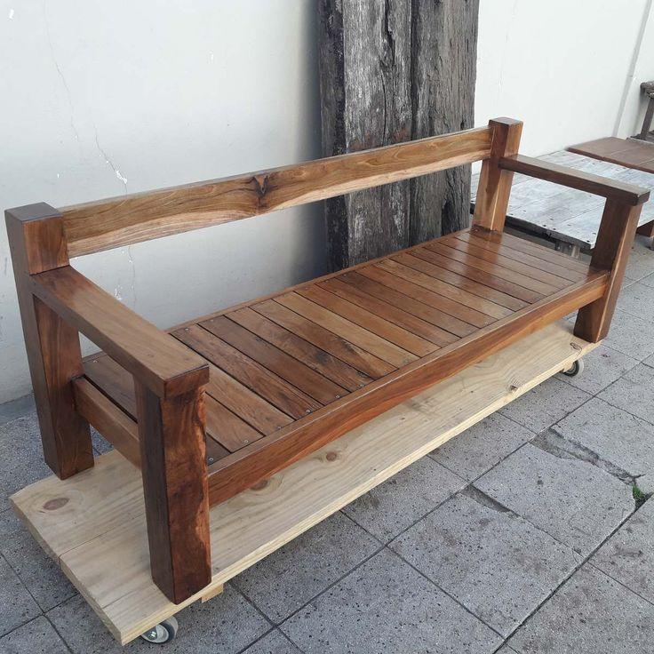 sillon de lapacho 200x70 - muebles jardin