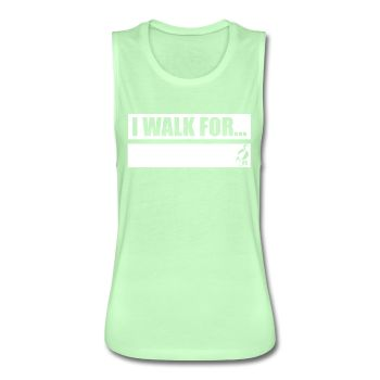 Writeable Declare what you WALK FOR Women's Flowy Muscle Tank