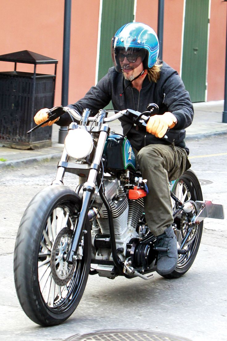 The hollywood reporter george clooney brad pitt with their motorcycles m a g a motorcycle daily pinterest george clooney brad pitt and brad pitt