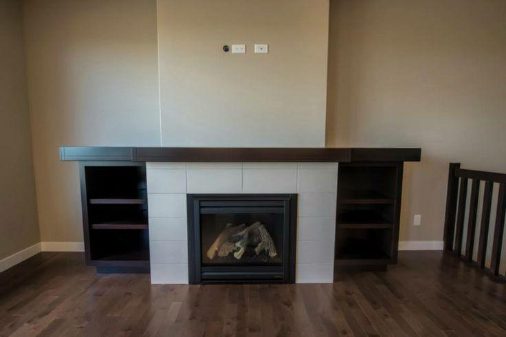 White tile with dark trim and shelves  https://www.facebook.com/media/set/?set=a.473937569355212.1073741843.135706893178283type=3
