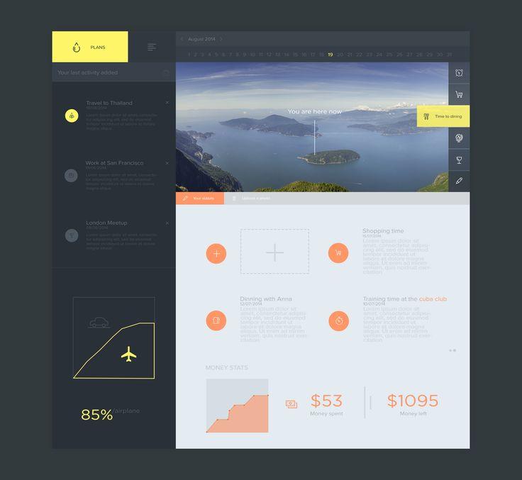 Plans dashboard by Ahmed Esmili TAGS: #ui #chart #trip