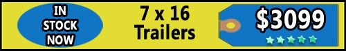 Trailers for Sale in MI - 7 X 16 Enclosed Trailers  - http://www.trailersnow.net/trailers-for-sale-in-mi-7-x-16-enclosed-trailers.html