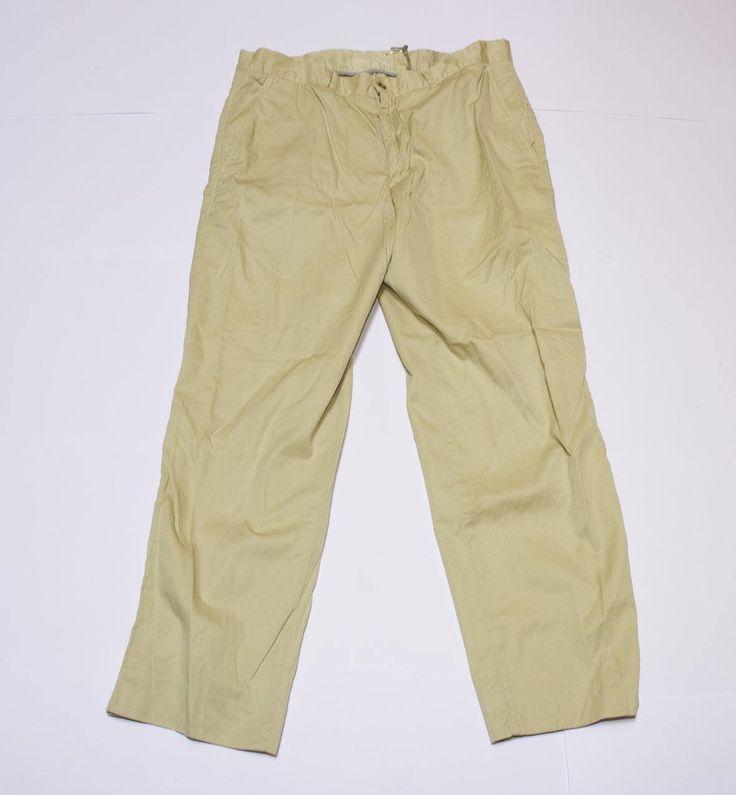 Pantaloni classici beige in cotone di Lindymarket su Etsy