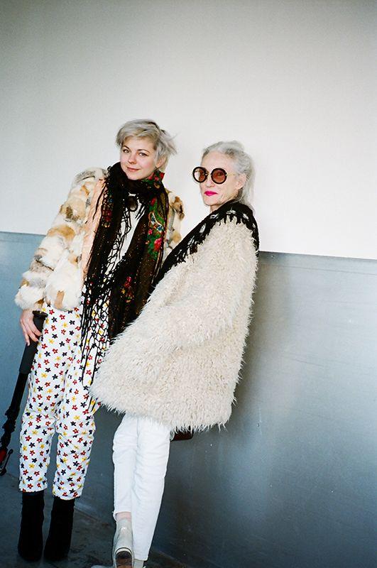 Oh Boy. Lina Plioplyte and Linda Rodin bkstge at Karen Walker.