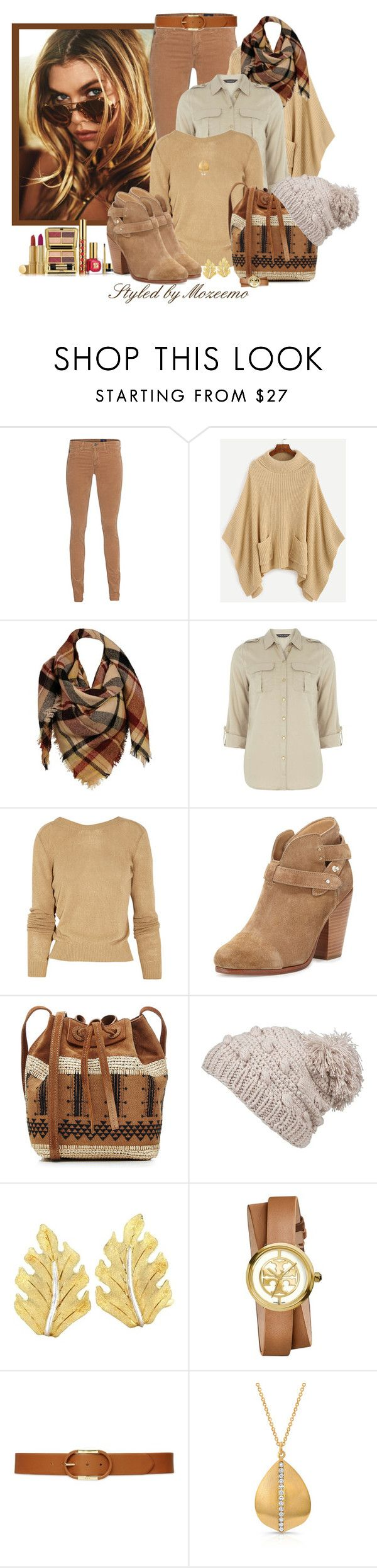 """Autumn Trousers Outfit"" by mozeemo ❤ liked on Polyvore featuring AG Adriano Goldschmied, Estée Lauder, Sylvia Alexander, Dorothy Perkins, 3.1 Phillip Lim, rag & bone, Vanessa Bruno, prAna, Buccellati and Tory Burch"