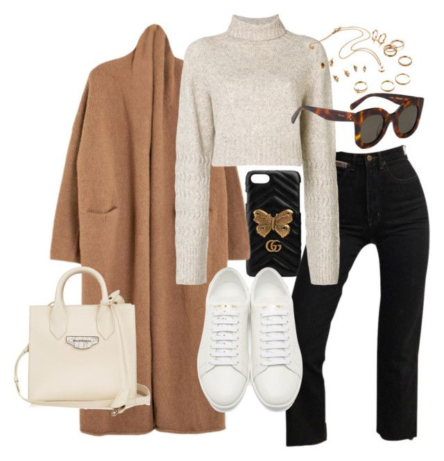 """""""Untitled #22783"""" by florencia95 ❤ liked on Polyvore featuring Gucci, Lauren Manoogian, Diesel, CÉLINE, Yves Saint Laurent and Balenciaga"""