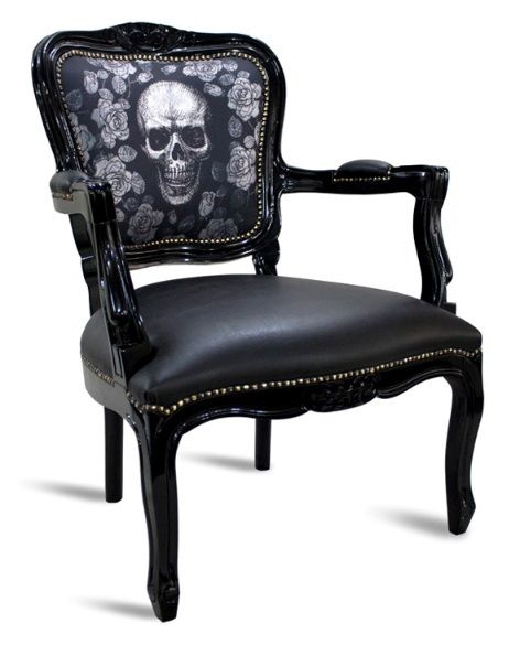 beautiful skull chair