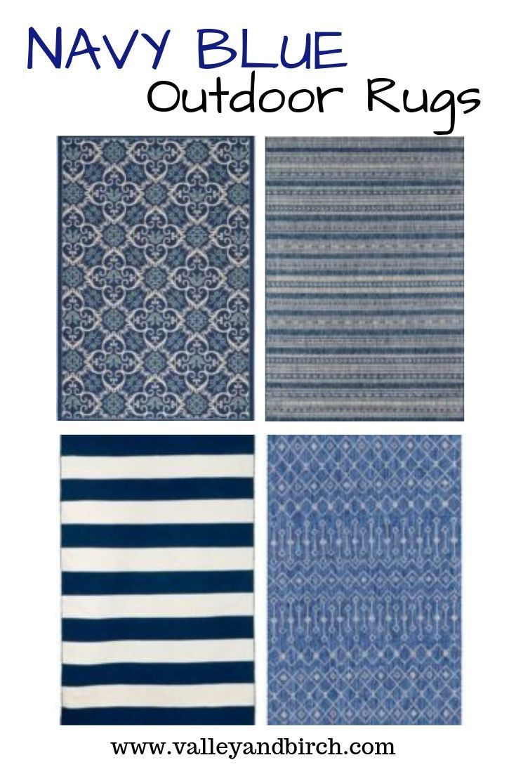 Navy Blue Outdoor Rug Ideas A Simple Cozy Front Porch Valley Birch Outdoorrugs Navybluedec Outdoor Rugs Outdoor Rugs Patio