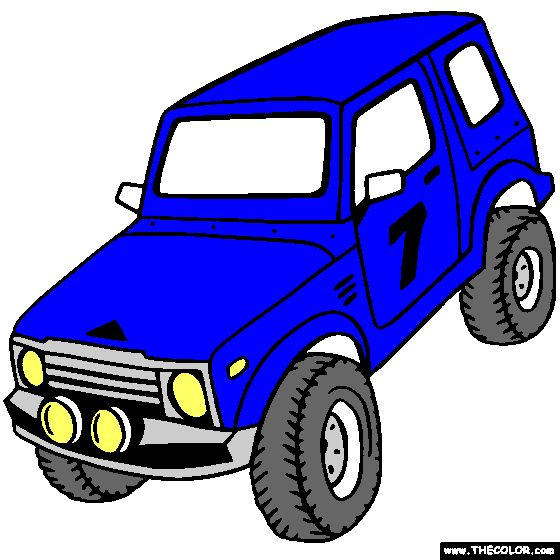 4x4 truck online coloring page wild about wheels Pinterest - new online coloring pages for cars