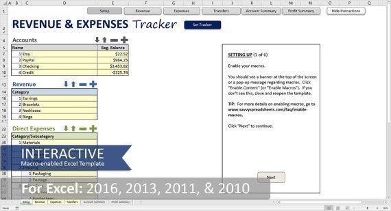 Einnahmen und Ausgaben Tracker - Kleinbetrieb-Excel-Vorlage