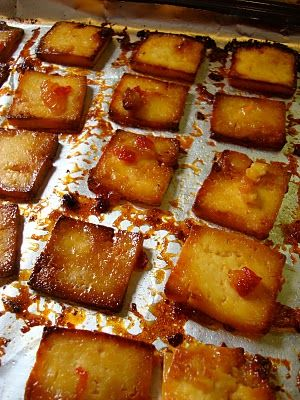 Sweet and sour sauced tofu