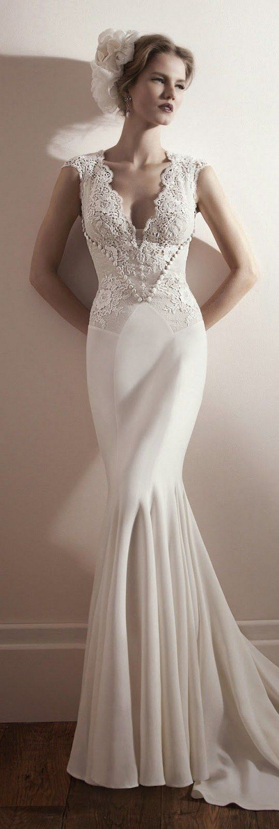 Best 25 V Neck Wedding Dress Ideas On Pinterest