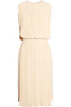 pleated silk-georgette dress ++ chloe