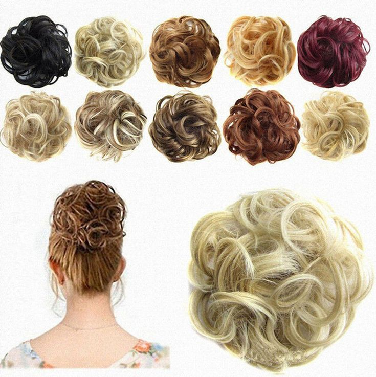 Women Hair Extension Ribbon Ponytail Clip In Hair Bun Curly Hairpiece Scrunchie | Health & Beauty, Hair Care & Styling, Hair Extensions & Wigs | eBay!