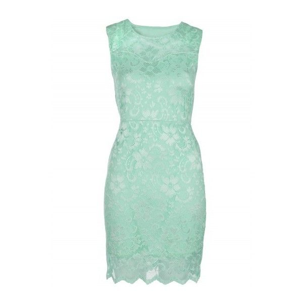 Mint Nude Lace Overlay Mini Dress | Dresses | Desire ($23) ❤ liked on Polyvore featuring dresses, mint cocktail dresses, short party dresses, green party dress, mint green dress and short green dress