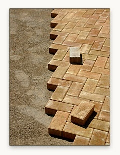 Love The Chevron Layout Do It Yourself Brick Paver Installation  Instructions   Enhance Companies
