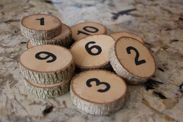 Cedar Wood Table Numbers (set of 10)! Get 10% off with coupon code: PINTEREST10 http://etsy.me/1DopTQQ