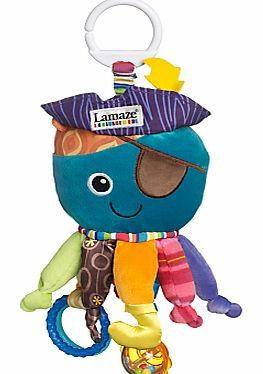 Lamaze Play and Grow Captain Calamari Captain Calamari - the soft octopus toy, features plenty of vibrant colours and interesting textures. His hat rewards baby with a crinkling sound, while each tentacle has a soothing knot and clacking  http://www.comparestoreprices.co.uk/baby-toys/lamaze-play-and-grow-captain-calamari.asp