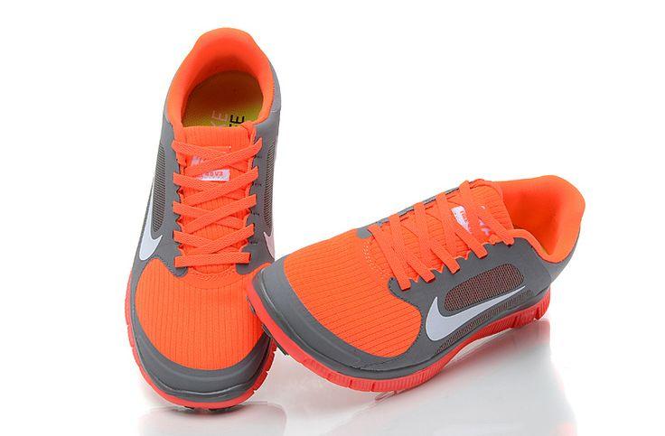 Nike Free 4.0 V3 Dame Køligt Grå Hvid Total Blodrød 472.30DKK