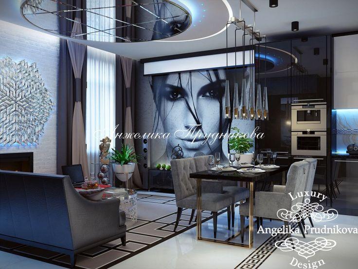 Дизайн проект интерьера квартиры в Москве в стиле Модерн. Фото 2017 - Дизайн квартир