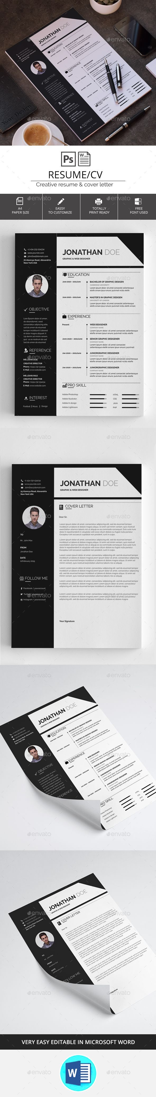 #Resume/CV - #Resumes Stationery Download here: https://graphicriver.net/item/resumecv/20442741?ref=alena994