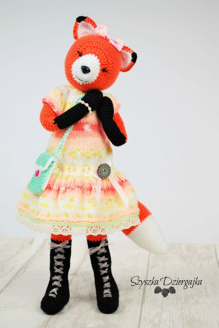 Szydełkowy lisek Crochet Fox