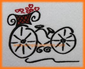 These are machine embroidery files. For the 5 x 7 Hoop and the 4 x 4 inch Hoops Formats include:  PES, HUS, JEF, VIP, XXX & DST Terms of Use for this are listed in the Terms Section. Image shows what it looks like stitched out.