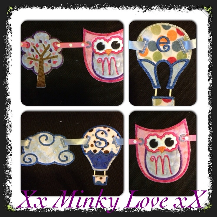 Minky love... Personalised bunting