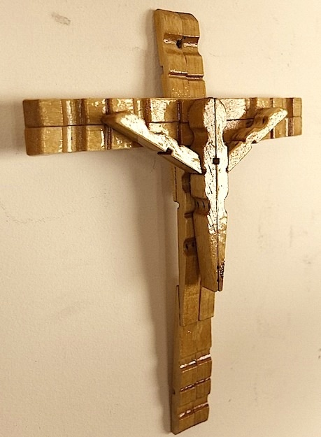 Clothespin Crucifix | ART | Easter crafts, Cross crafts ...