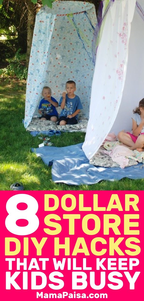 DIY Craft: I was looking for some kids activities and came across these awesome hacks that you can use from Dollar Store items. My kids will never be bored again!