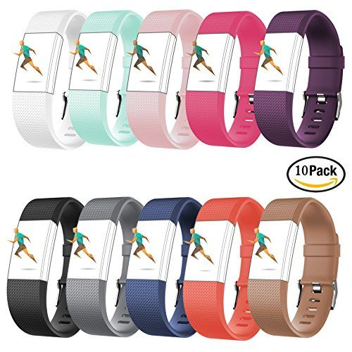 For Fitbit Charge 2 BandsCreatGreat Silicone Replacement Band for Charge 2/Fitbit Charge 2 Band/Fitbit Charge 2