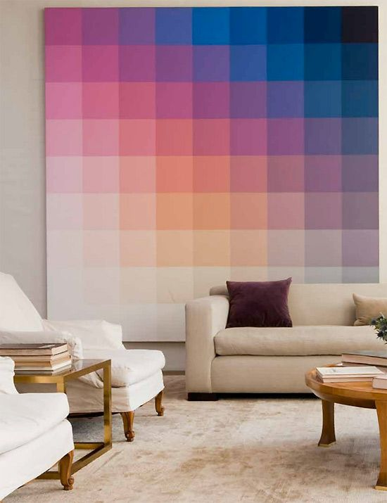 color swatch decor - Interior Wall Painting Designs