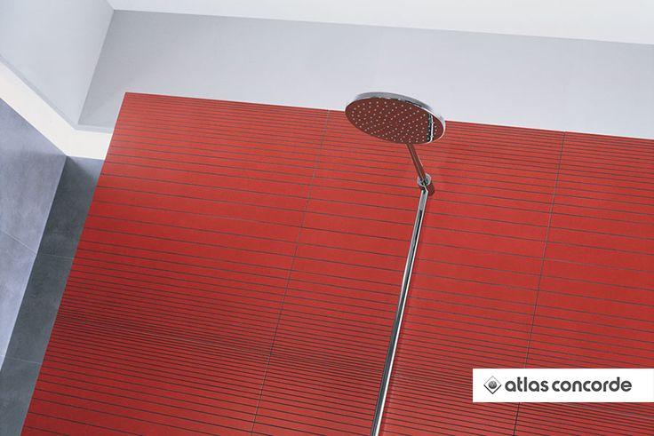#VIEW Red Inserto Line | #AtlasConcorde | #Tiles | #Ceramic