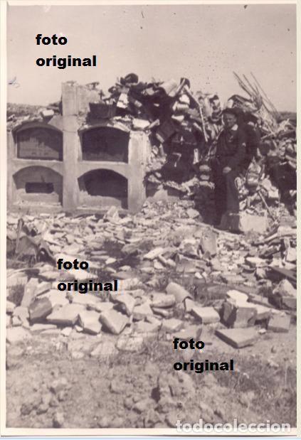 CEMENTERIO BELCHITE(ZARAGOZA) TRAS LA BATALLA FOTO LEGION CONDOR GUERRA CIVIL - Foto 1
