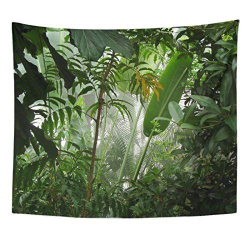 ArtSocket Tapestry Green Amazon Misty Jungle Rainforest