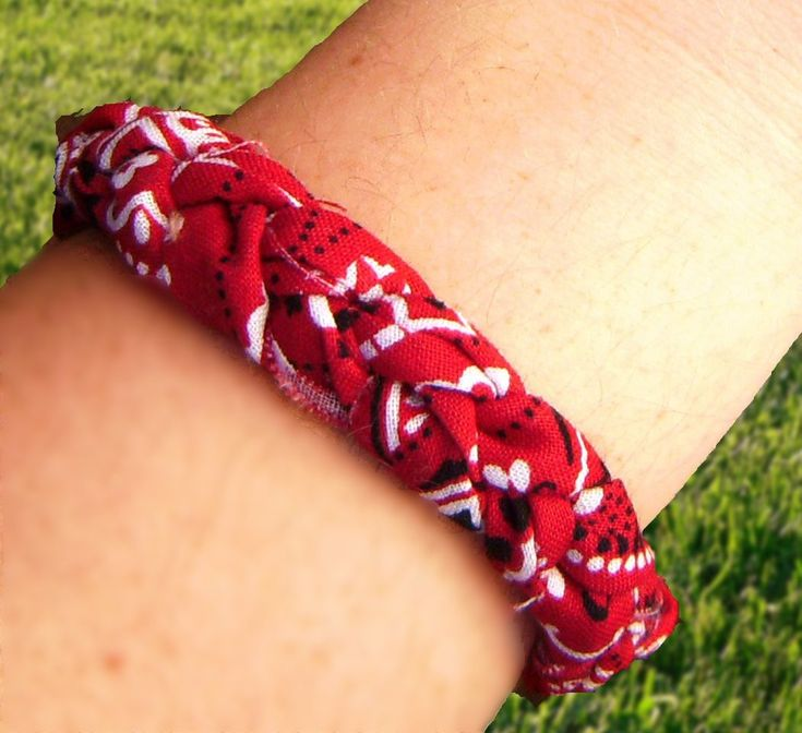 This is for you Jennye :) braided bandana bracelet. i'd like to add beads to it!