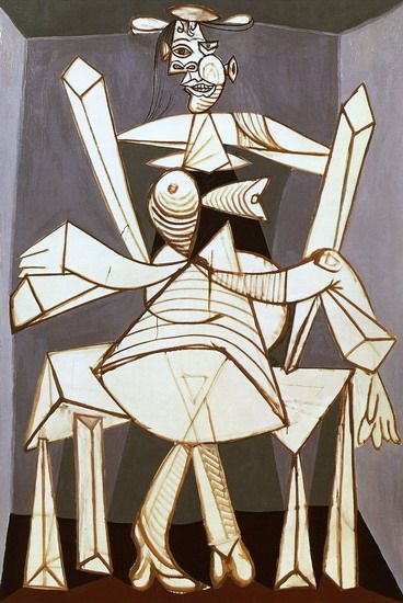 Pablo Picasso - Woman sitting in an armchair (Dora), 1938