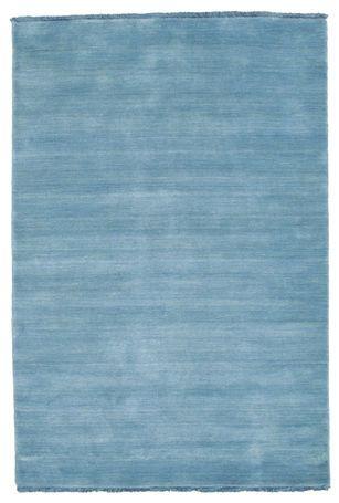 Handloom fringes - Light Blå teppe 120x180