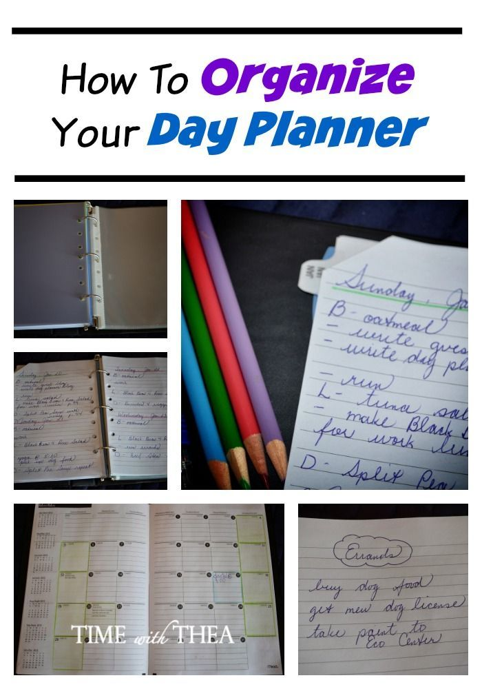 How To Organize Your Day Planner - Do you need to organize your personal, family and work life? Are you looking for an idea to create your own custom day planner? It is inexpensive, flexible for your schedule and really helps track your time and organization.