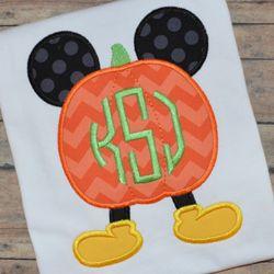 Mr Mouse Pumpkin Applique