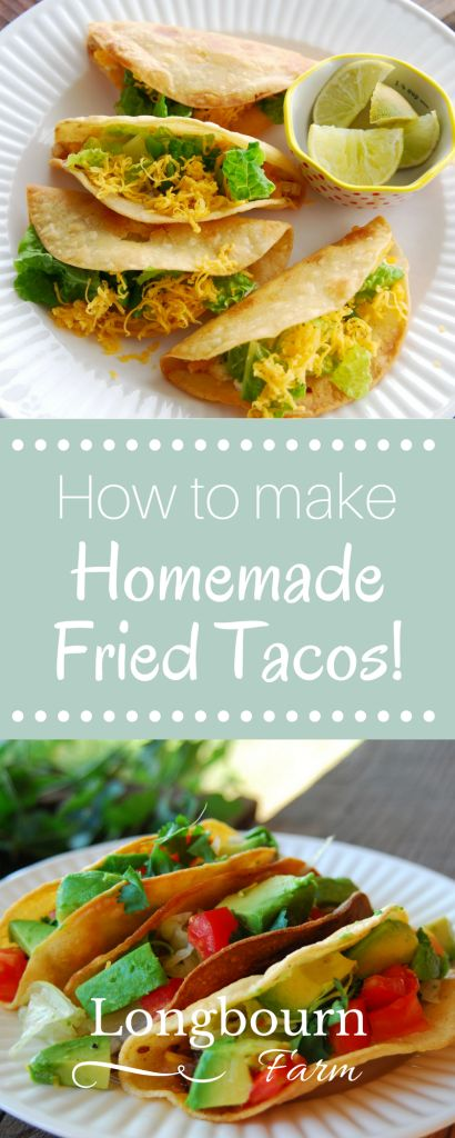 Homemade fried tacos are easy to make and will transform your taco eating experience! Learn how to make the perfect crispy shell for your taco filling.