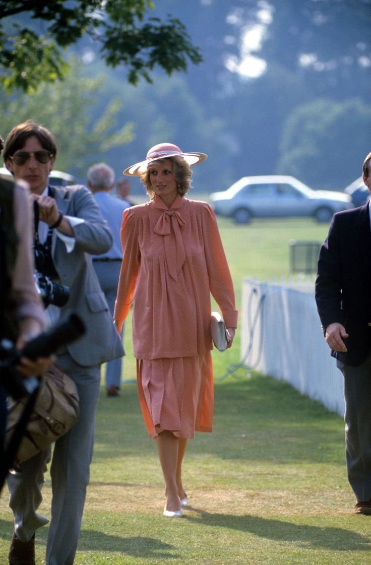 June 20, 1984: Princess Diana at the Smith's Lawn polo grounds, Windsor.